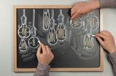 Lightbulb Chalkboard