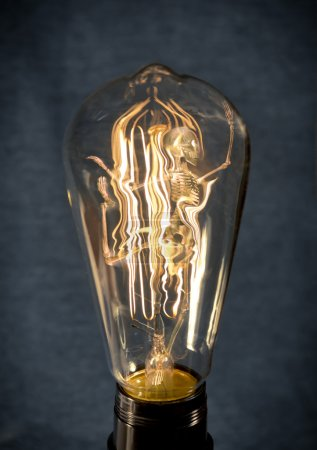 Skeleton Trapped Lightbulb