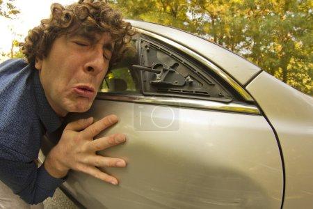 Car Crash Facial Expression