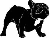 Dog Bulldog The dog breed bulldogDog Bulldog black silhouette
