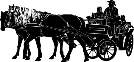 Silhouette of Horse Buggy