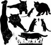 Art cat silhouettes