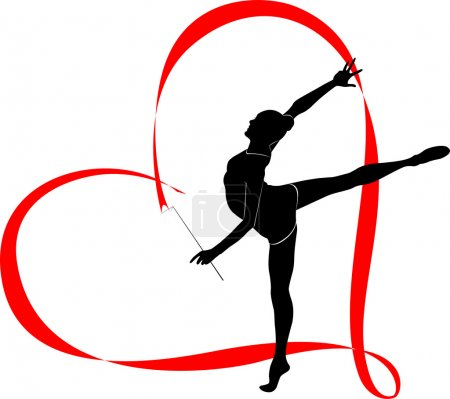 Girl gymnast in heart