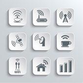 Wireless and Wi-Fi Web Icons Set