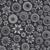Milling cutters for metal 3d Seamless Pattern Background