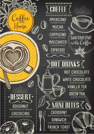 Coffee restaurant cafe menu