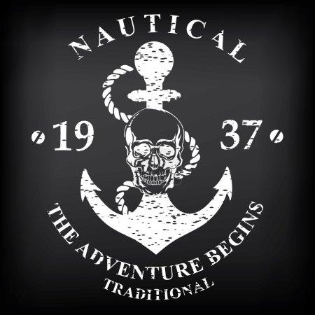 Nautical marine, badge design.