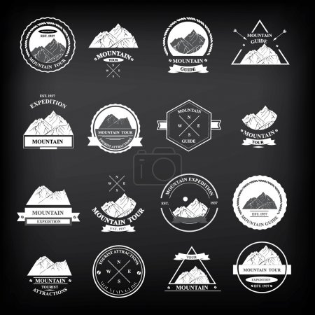 Set of expedition badges
