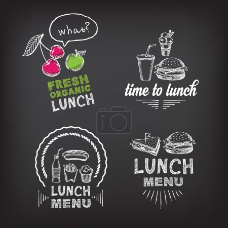 Lunch menu, restaurant design.