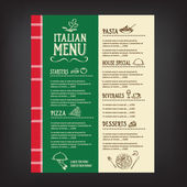 Restaurant cafe menu template design Vector illustration