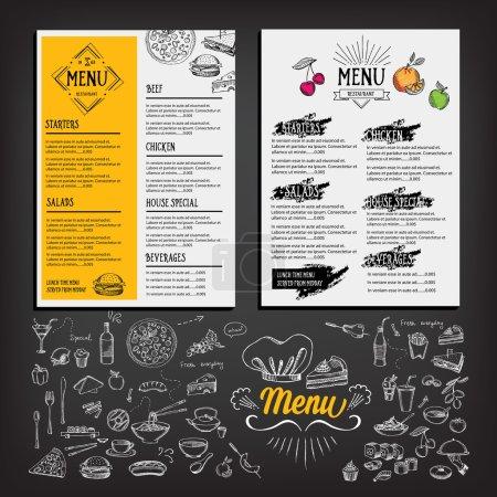 Restaurant cafe menu, template design