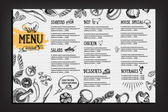Cafe menu restaurant brochure Food design template
