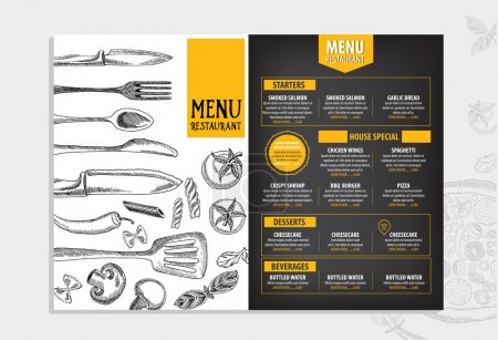 Restaurant menu template design