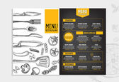Restaurace menu šablony design