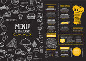 Restaurant menu template design Food flyer