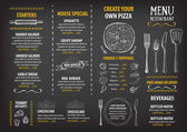 Restaurant cafe menu template design Food flyer