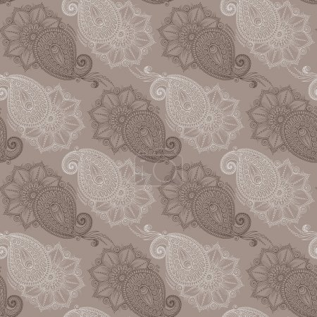 Henna Mehndi Tattoo Doodles Seamless Pattern