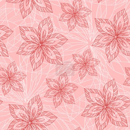 Photo for Seamless raster floral pattern, spring/summer backdrop. Hand drawn surface pattern design with flowers. Seamless texture can be used for wallpapers, pattern fills, surface textures. - Royalty Free Image