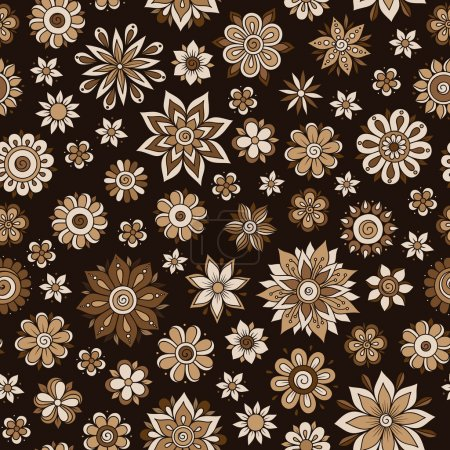 Henna Mehndi Doodles Vintage Seamless Pattern