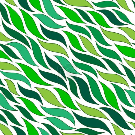 seamless abstract hand-drawn pattern with leaf