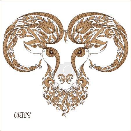 Zodiac sign - Aries.