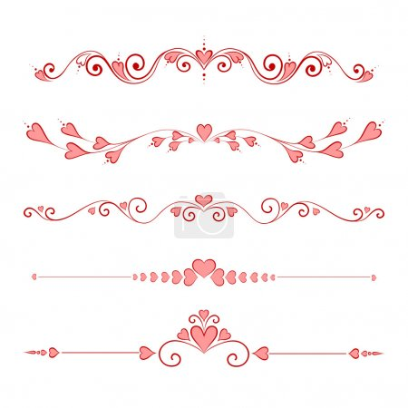 Photo for Set Calligraphic Valentine's Day Design Elements - Royalty Free Image