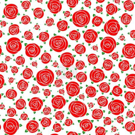 Photo pour Motif floral raster sans couture, fond printemps / été. Modèle de surface dessinée à la main avec des fleurs. Texture sans couture peut être utilisé pour les fonds d'écran, garnitures de motif, textures de surface . - image libre de droit