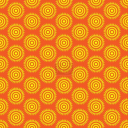 Photo for Cute seamless pattern of sun. Doodle hand drawn style . Bright and beautiful retro seamless pattern. Retro Patterns Set - Royalty Free Image
