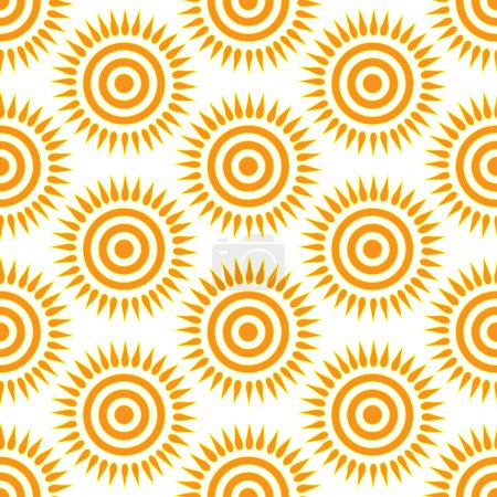 Cute seamless  pattern of sun.