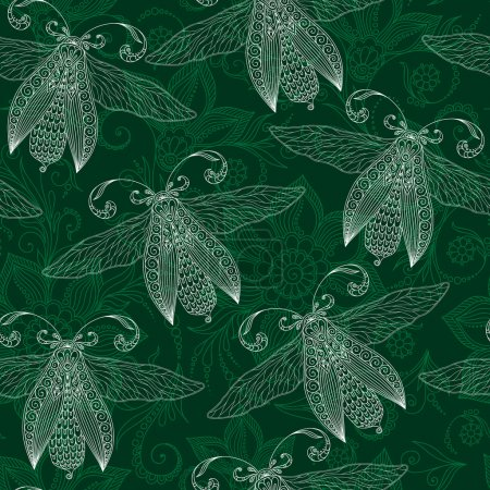 Poster: Night creatures seamless pattern with
