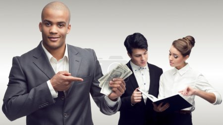 team of young successful business people