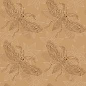 Bezešvé pozadí motýlů na hnědé pozadí. indické m