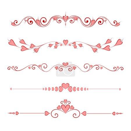Illustration pour Les éléments de Design calligraphique Valentin valeur - image libre de droit