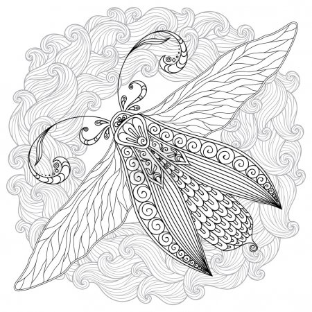 Pattern for coloring book. Henna Mehendi Tattoo Style Doodles bu