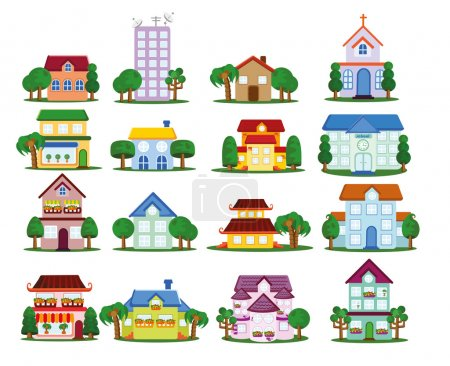 Illustration for Vector house icons - Royalty Free Image