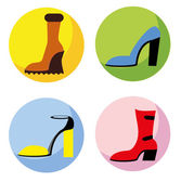 Icons of different shoes