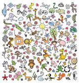 Děti doodle kresby