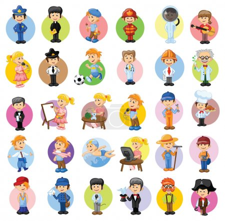 Photo for Cartoon vector characters of different professions - Royalty Free Image