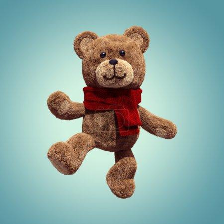 Cute teddy bear toy dancing, 3d cartoon character...