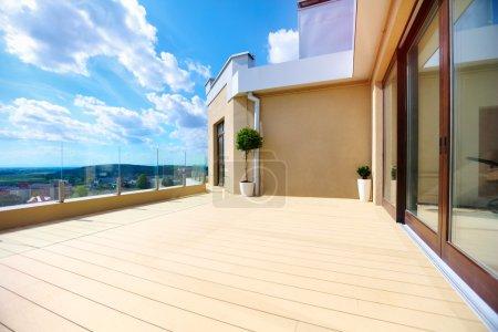 rooftop terrace on upper floor