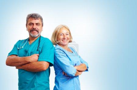 Portrait of confident adult medical doctors