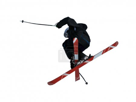 a free style skier