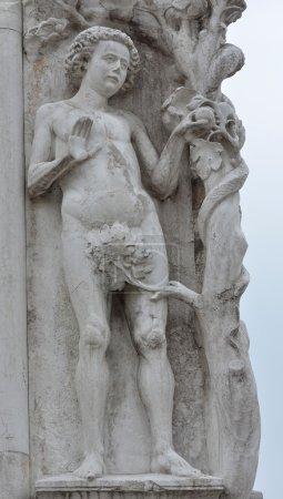 Biblical figure Adam statue