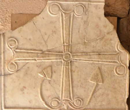 Ancient byzantine anchor cross
