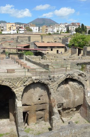 View of the ancient roman town
