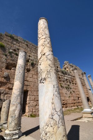 Ancient Greek marble columns