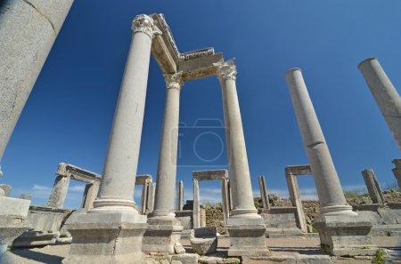 Remains of ancient greek columns