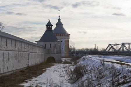 Vologda, Russia. Tower and shaft Spaso-Prilutsky Dimitriev monastery