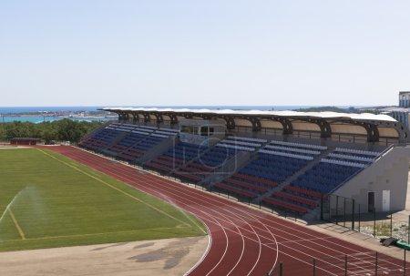 """Tribunes of stadium """"Spartak"""" in Gelendzhik, Krasnodar region, Russia"""