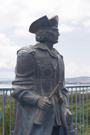 Photo pour Christophe Colomb monument dans le musée maritime Safari Park resort ville Gelendzhik, région de Krasnodar, Russie - image libre de droit